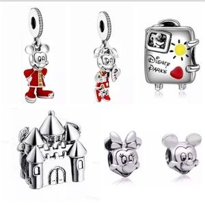 Jewelry - 6 Pieces Disney Mickey Mouse Silver Charms Set